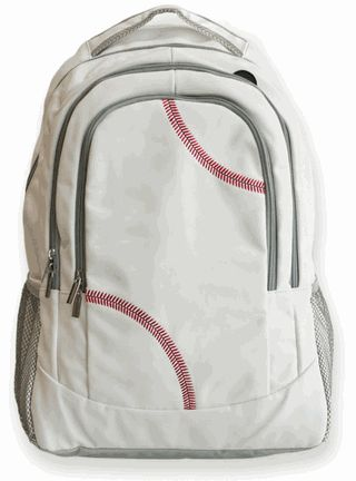 Baseball Backpack - Created from actual baseball leather with real red –  The Varsity Source 0e8001be7b