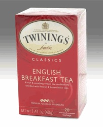Twinings English Breakfast Tea - 20 Tea Bags