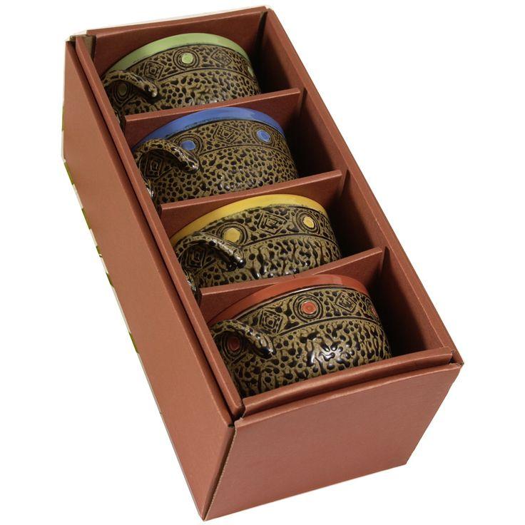 Four 15 Oz. Soup Bowls with Handles Box Set