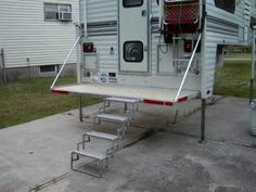 Use this concept for back of chuck wagon, perfect place for the grill & cookstove