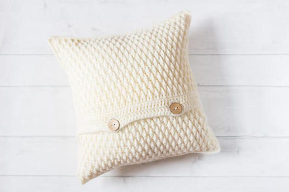 Cream Textured Cushion Cover, Gift For Mum, Boho Cushion, Hygge, Nursery Decor, Shabby Chic, Neutral Scandinavian Cushion, Throw Pillow