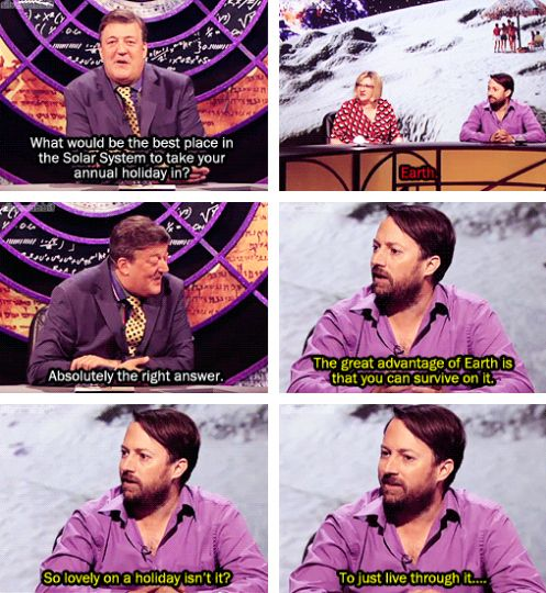 His understanding of science rivals Neil deGrasse Tyson's. | 26 Reasons David Mitchell Is The Internet's Spirit Animal
