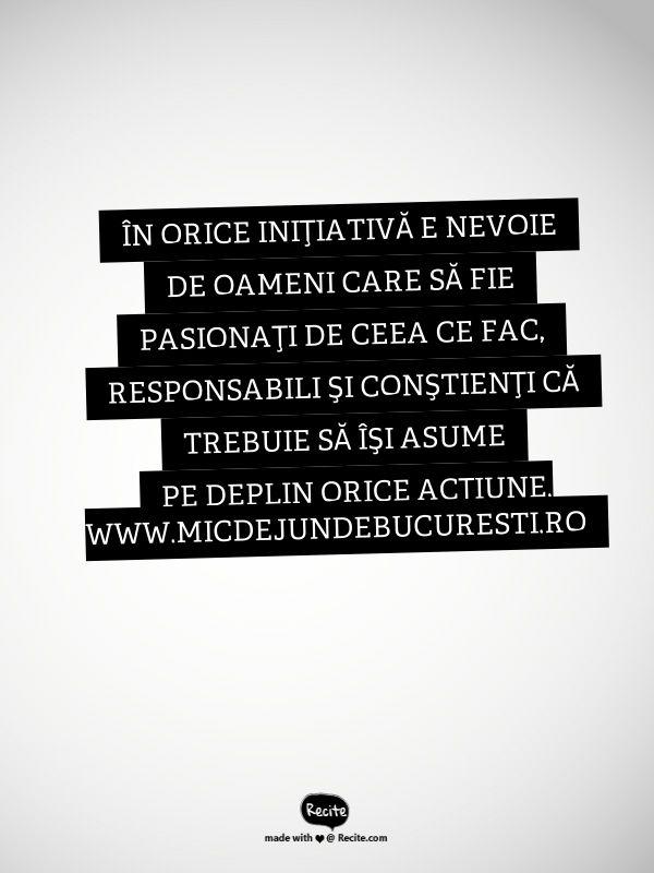 Mic dejun de București Creativitate, inițiativă, succes