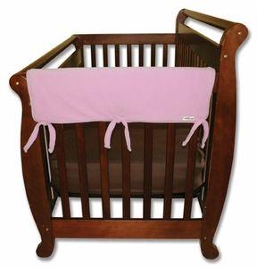 "CribWrap Convertible Crib Rail Cover-27"" Pink Fleece (includes 2 side pieces) - $20.00"