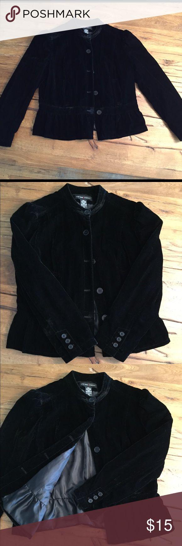 New York & Co velvet jacket Black velvet jacket. Lined. New York & Company Jackets & Coats Blazers