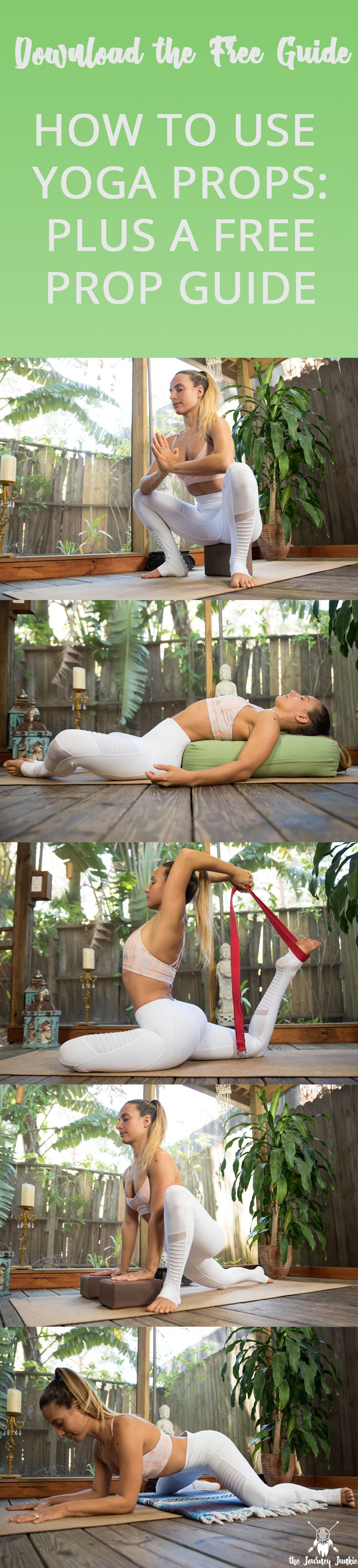 How to Use Yoga Props + a Free Yoga Prop Guide I Learn how to use my four favorite yoga props (blocks, bolster, blanket, strap) + download the free guide to help make every yoga pose accessible and enjoyable!