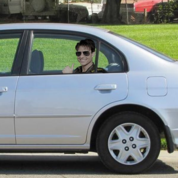 Someone please help! Tom Cruise is in the backseat of my car and I forgot to roll the windows down!
