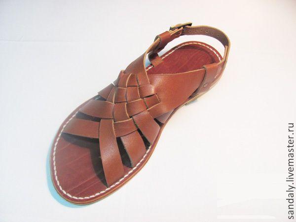 Купить Греческие сандалии №25 - коричневый, сандалии из кожи, летняя обувь, натуральная кожа