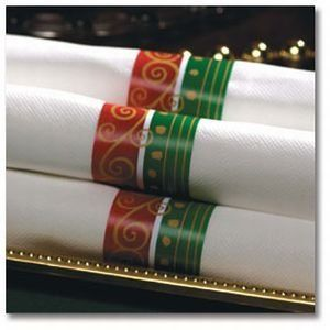 Festive Holiday Napkin Interlocking Bands by Hoffmaster Food. $5.99. Design is stylish and innovative. Satisfaction Ensured.. Manufactured to the Highest Quality.. Elegant party supplies for any holiday or occasion.