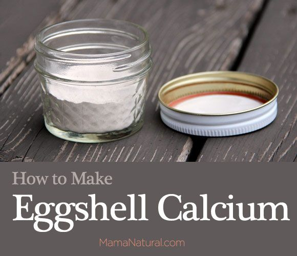"homemade eggshell calcium DIY - also: "" In fact, because producing an egg takes a lot of calcium from the chicken, oyster shell is often ground up and mixed in with the feed. Chicken handlers will examine the shells and if they are too light (for brown egg producing chickens) or too thin oyster shell is given to help the chicken replenish this supply."""
