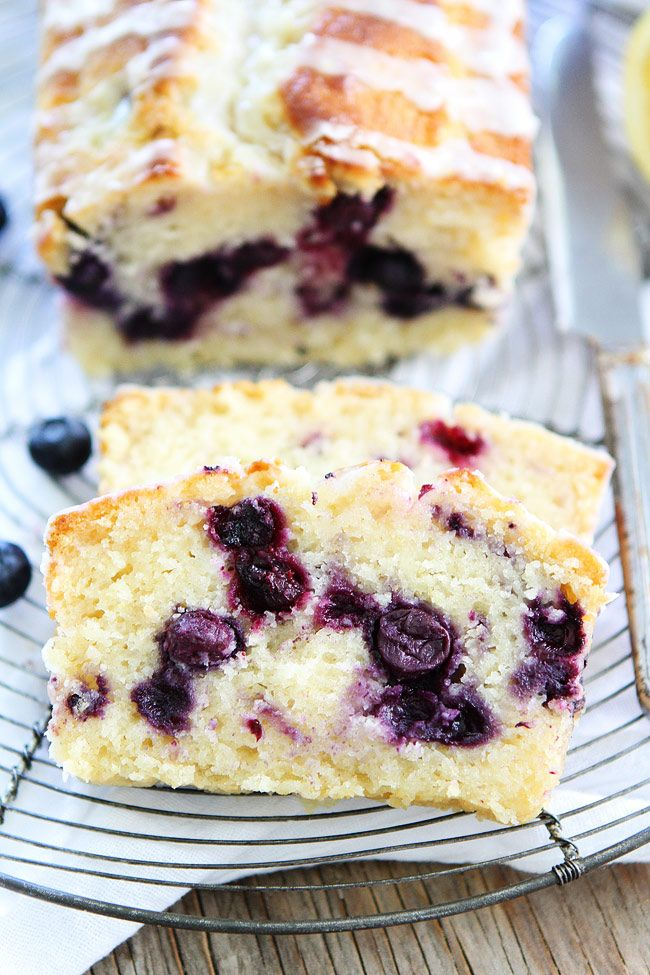 Lemon Blueberry Loaf Cake Recipe from @twopeasandpod