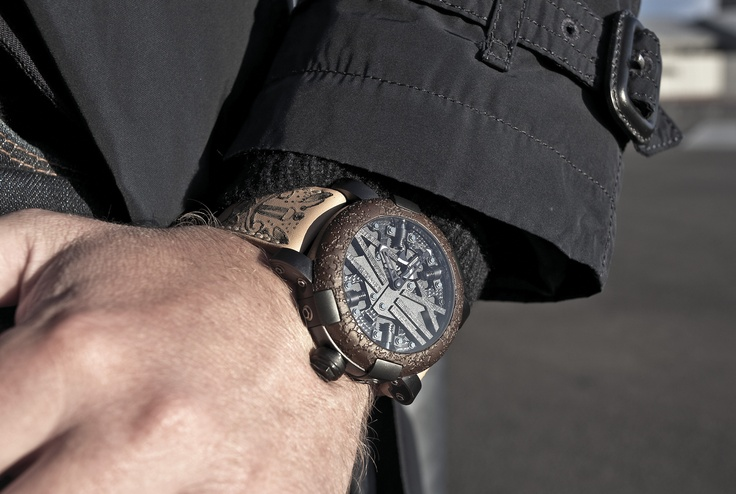 The #Romain Jerome Titanic DNA #Steampunk - a #stunning #watch, featuring part of the Titanic in its #bezel - in store now.