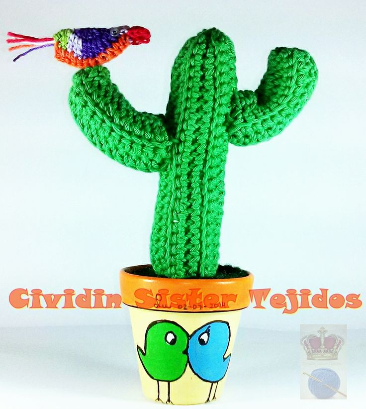 17 best images about cactus tejidos al crochet con macetas for Cactus enanos por mayor