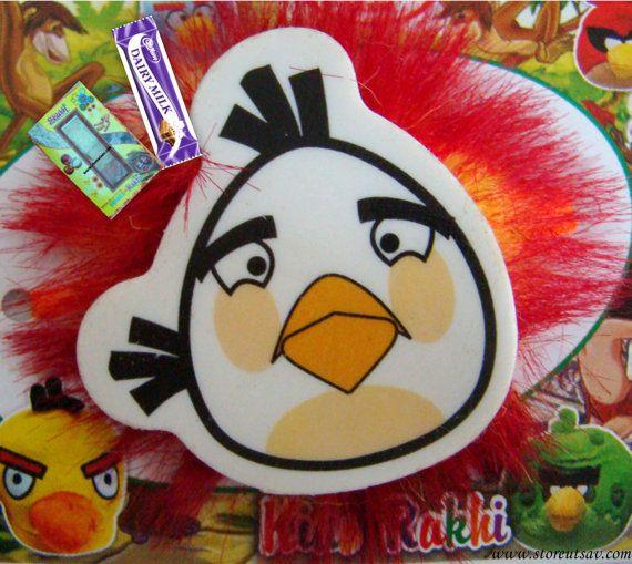 7524b2a448607579c6333e5939351a48 rakhi bird design - Kids Rakhi Angry Birds 3 design choices Sibling Band by StoreUtsav