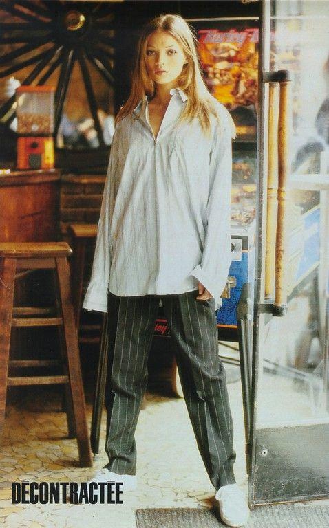☆ Kate Moss | Photography by Pamela Hanson | For Elle Magazine France | November 1992 ☆ #KateMoss #tomboycool
