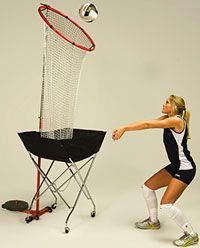 • Ideal for passing or setting • Adjustable pole height, up to 12 feet • Target ring measures 30 inches • Sturdy net collects balls for eas | Midwest Volleyball Warehouse