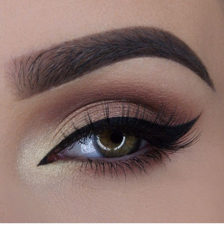 Beautifully highlighted the inner eye with champagne colour