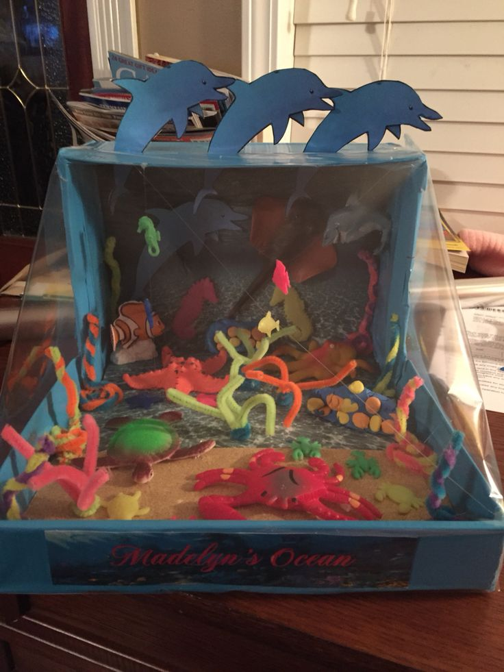 Kids Diorama With Details: Ocean Diorama- With A 3D Look.