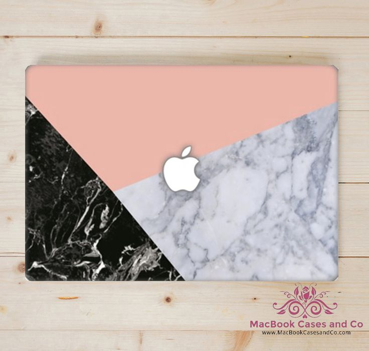 Marble MacBook Case - Top (printed) and Bottom (clear) Hard Plastic MacBook Case by MacBookCasesandCo on Etsy