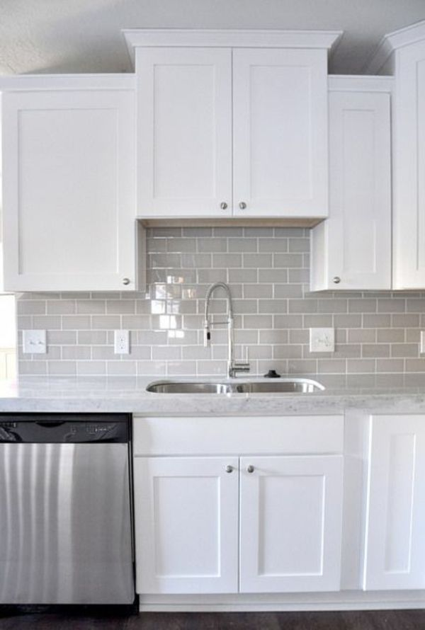 wandfliesen küche fliesenfarbe grau