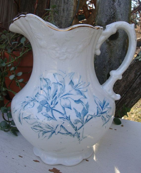 victorian pitchers | Vintage Victorian Pitcher - Anchor Pottery