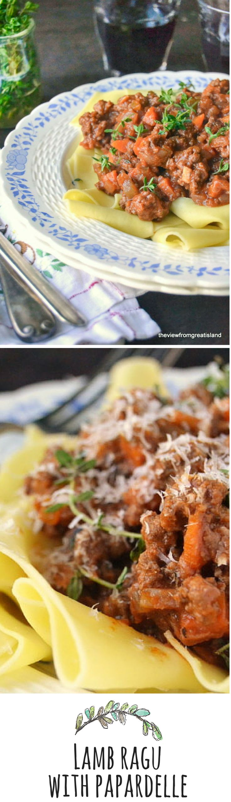 A super hearty classic lamb ragu with broad noodles makes a comforting (and romantic!) dinner.