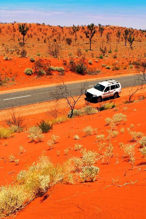 Driving in Australia's Red Centre