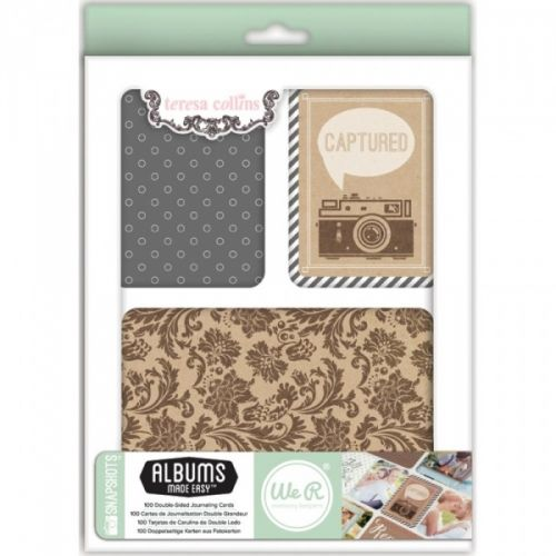 "TERESA COLLINS - SNAPSHOTS 62346-5 - JOURNALING CARDS Includes a variety of die-cut, glitter and acetate cards in 2 sizes: (80) 3""X4"" and (20) 4""X6"" cards. Teresa Collins Albums Made Easy Journaling Cards 100/Pkg    WE R MEMORY KEEPERS-Teresa Collins Albums Made Easy Journaling Cards: Snapshots. A perfect addition to your scrapbooking and journaling projects. This package contains eighty 3x4 inch cards in twenty-two different designs (four of each design) and twenty 4x6 ..."