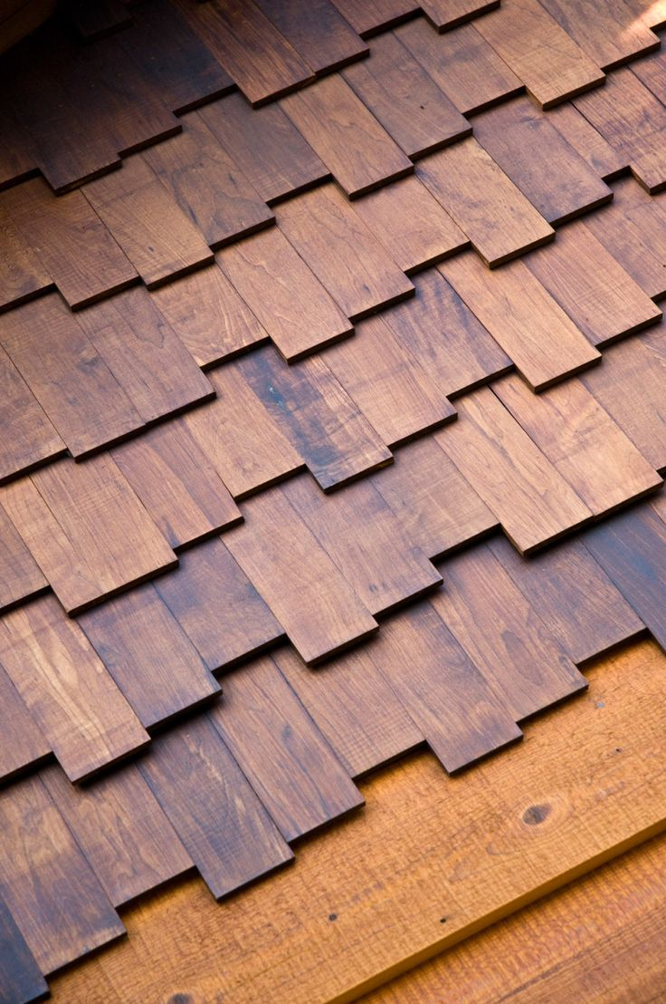Sustainable, durable roofing shingles made from Arborwood thermally modified wood distributed by Intectural.