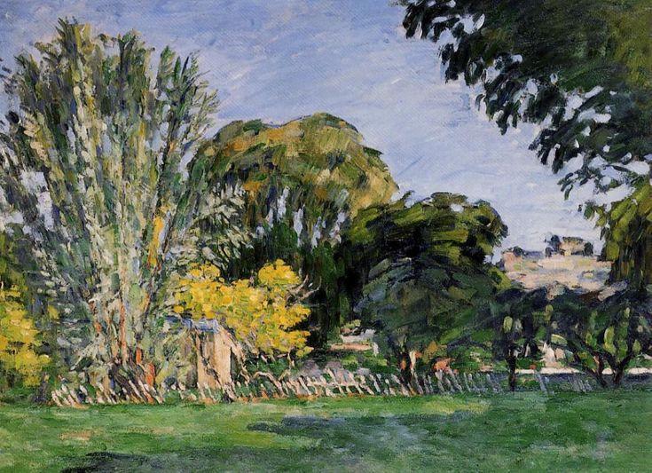 The Trees of Jas de Bouffan - Paul Cezanne   #cezanne #paintings #art