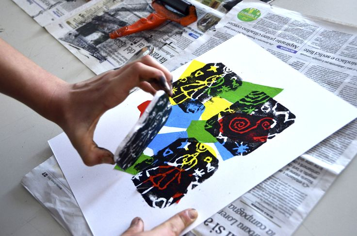prints with styrofoam inspired by miro