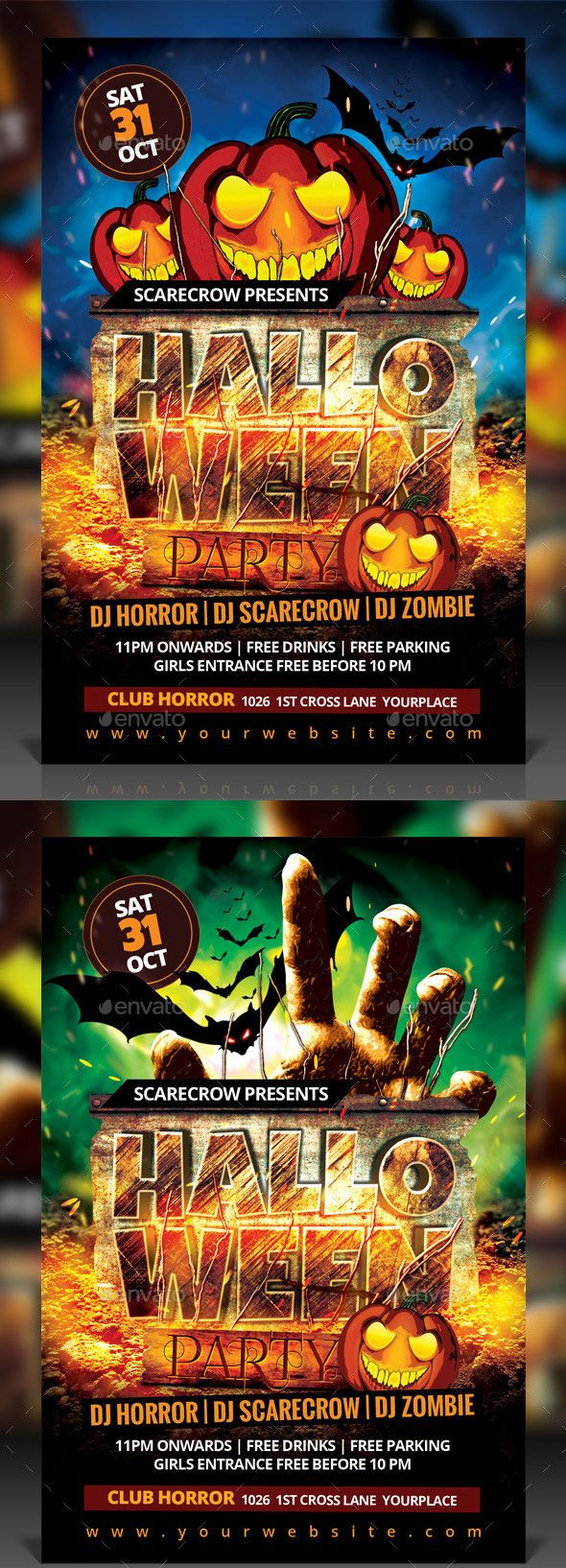 Halloween Party Flyer  Promoting Halloween Yard Haunt