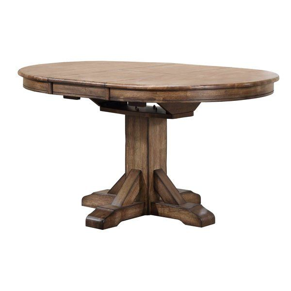 Rutledge Pedestal Extendable Solid Wood Dining Table Dining Table Solid Wood Dining Table Wood Dining Table
