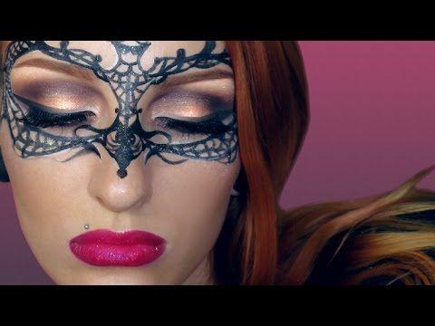 Easy Masquerade Makeup Mask Tutorial / Creative Make-up Halloween 2015 - YouTube