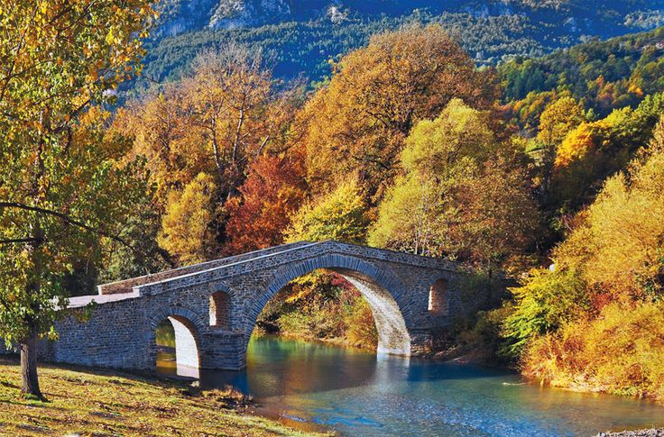 Ano Poreia, Serres, Macedonia Greece.  The Ziakas stone bridge, located near Grevena Cave once  served for trade and travel from the villages of Orliakas to Grevena Macedonia, northern Greece.  Photo: Theodore Athanasiadis