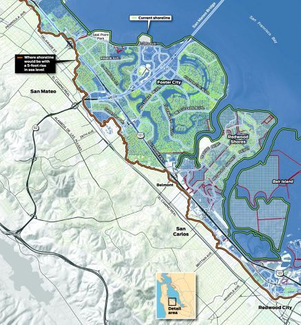 """""""Within 40 to 60 years, coastal floods will affect as many as 90,000 residents in San Mateo County, the most vulnerable county in California...People now under 40 years of age will see this happen in their lifetimes."""""""