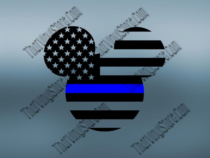 Mickey Back the Blue Flag Thin Blue Line Vinyl Decal | Disney Yeti Cop Decal | Distressed Disney American Flag | Blue Lives Matter | 402 by ThatVinylStore on Etsy https://www.etsy.com/listing/478699252/mickey-back-the-blue-flag-thin-blue-line