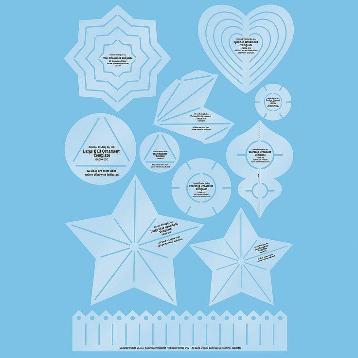 8 Ornament Templates - OrientalTrading.com