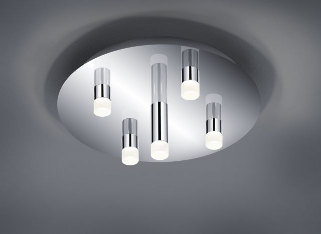 ZIDANE Trio - stropná LED lampa - chróm - ø 350mm