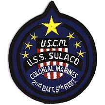 US Colonial Marines USS Sulaco Ship Patch