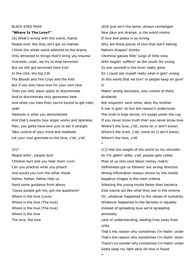 Black Eyed Peas - The Best One Yet Lyrics | MetroLyrics