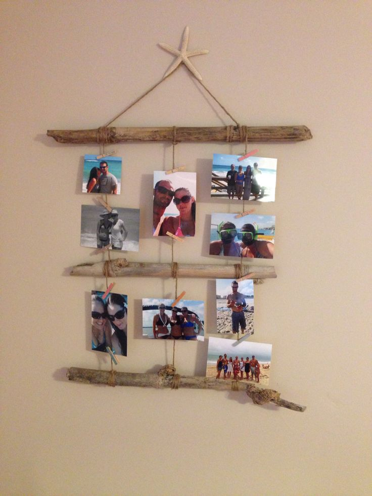 creative ways to hang your pictures just beachy pinterest creative and. Black Bedroom Furniture Sets. Home Design Ideas