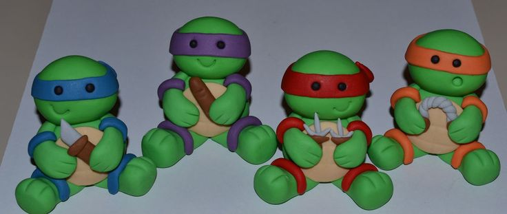 Edible Fondant Teenage Mutant Ninja Turtles Toppers