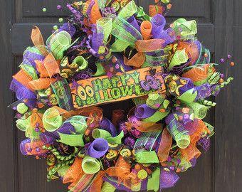 Guirnalda de Halloween Halloween Deco malla por OpulentConcepts