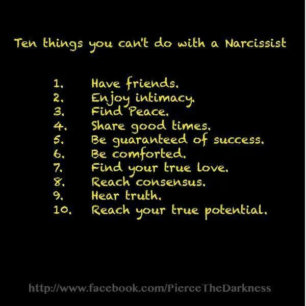 10 things you can't do with a narcissistic sociopath.  Narcissistic Abuse Recovery