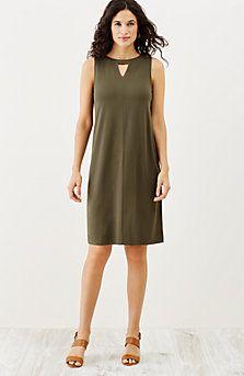 Wearever pleated-back sleeveless dress | J Jill