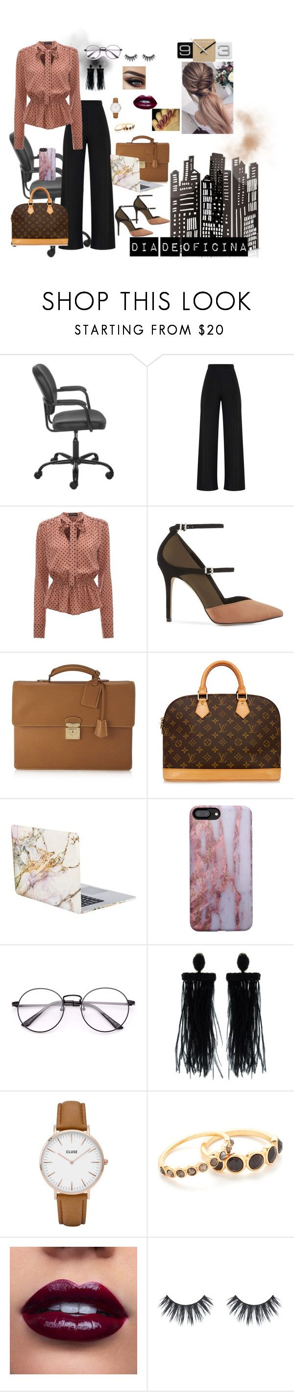 """""""Dia de Oficina"""" by izmenigarza ❤ liked on Polyvore featuring Reiss, Louis Vuitton, iHome, Oscar de la Renta, CLUSE, Gorjana, BeautyTrend, SimpleOutfits, office and lovely"""