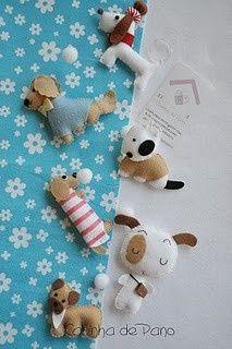 Felt animals crafts