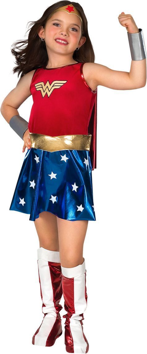 Girls Wonder Woman Costume - Party City   Halloween!   Girl ...