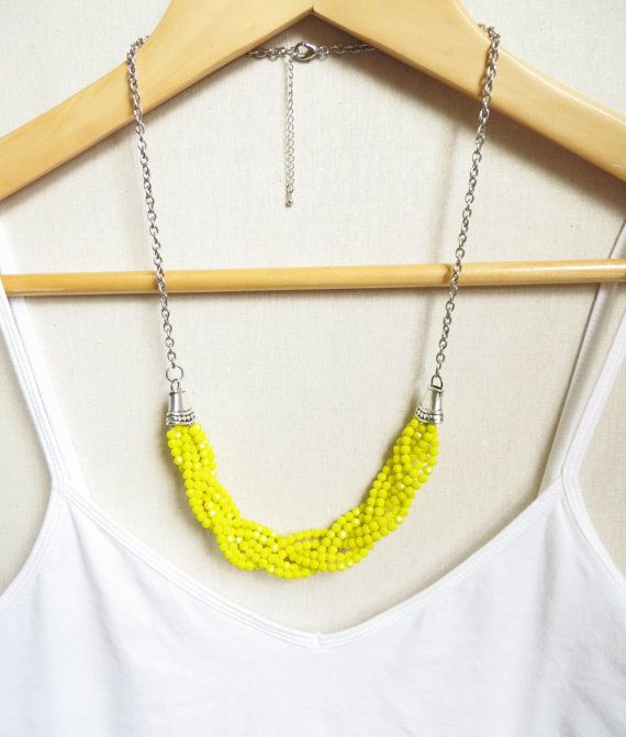 The Plait Statement Necklace by MITCHandMOODI on Etsy, $40.00